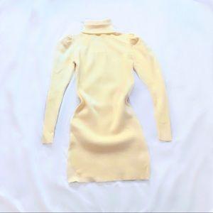 zara ⋆ puff sleeve sweater dress